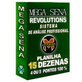 Planilha MEGA-SENA com 15 dezenas 40 apostas, 4, 5 ou 6 pontos 100%