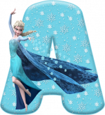 Alfabeto - Frozen Vestido de Gala 9 - PNG