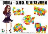 QUEBRA-CABEÇA ALFABETO MANUAL - ANIMAIS