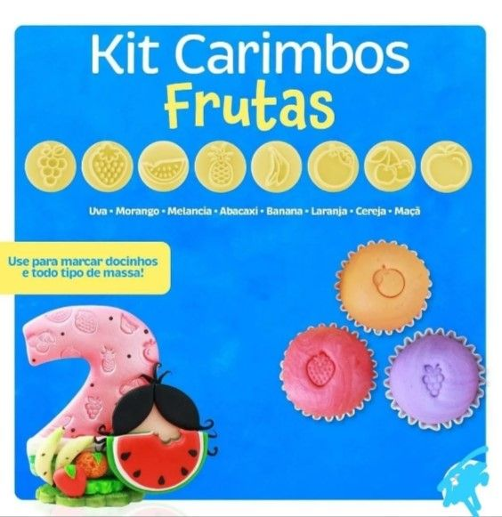 Kit Carimbos Frutas 9 Peças