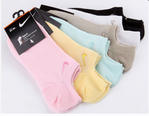 a729fd8d0 Kit 5 Pares -Meia Soquete Nike- Feminina - 34 a 39 - JSM Importados