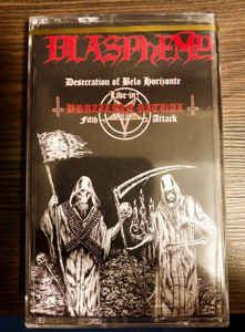 Cassete - Blasphemy – Desecration Of Belo Horizonte - Live In Brazilian Ritual Fifth Attack