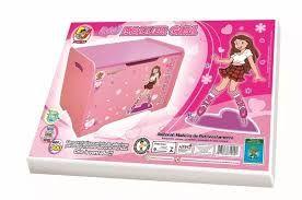 Baú Para Brinquedos Roller Girl Junges