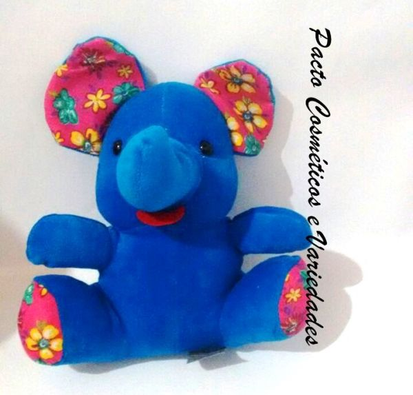 Pelúcia Elefante azul