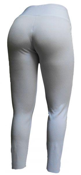 Legging plus size branca  56/58 em crepe de malha, cintura alta