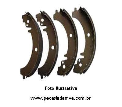 Lonas de Freio Traseira  c/ Sapatas jg c/ 4 pçs Laika (Novo) Ref. 0115