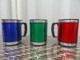 Caneca Mug Térmica Inox 450 Ml Cores Com Tampa