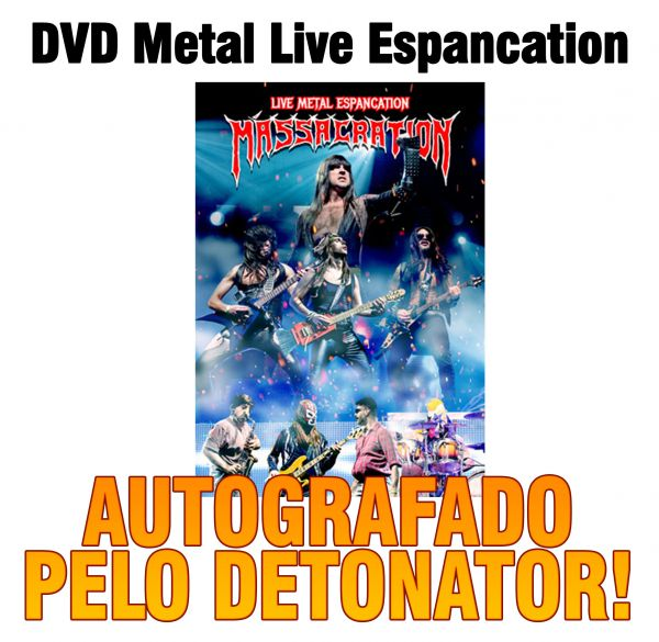 DVD Massacration Live Metal Espancation (AUTOGRAFADO)