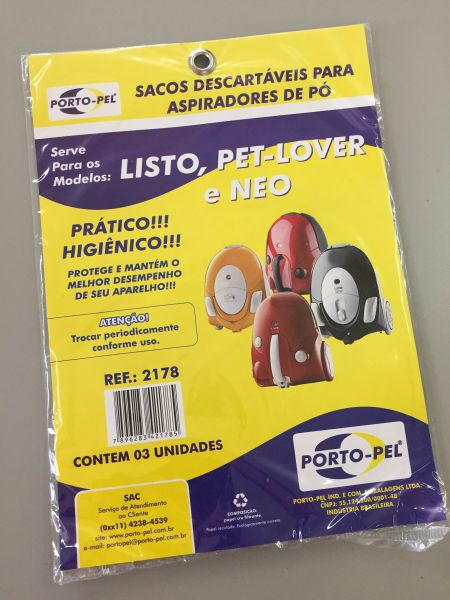 REF:2178 COMPATIVEL ELECTROLUX LISTO - NEO - PET LOVER