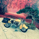 Motocicleta Retrô Miniatura 44cm
