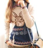 Blusa coelho -mangas longas