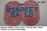 d. Alfabeto de bolinha letras com 2,5cm
