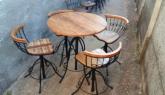 Banqueta bistrô em ferro madeira regulagem  Atacado acima de 5 peças