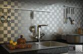 Revestimento Placas Decorativas de Alumínio Escovado Autoadesiva - MA02