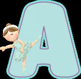 Alfabeto - Bailarina 4 - PNG