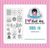 SBS 016 Sugar Bubbles Placa para carimbo