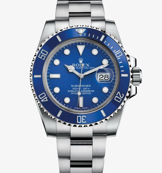 57452dd0f28 Relogio Rolex Submariner Azul Prata - relogio online