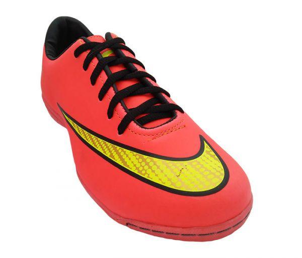 cbd144e5e6667 Chuteira Futsal Nike Mercurial Veloce 2 Salmão MOD 11856 - tudo ...