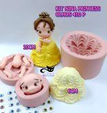 Kit Combo Nina Princess + olhos resinados 410 P