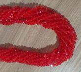 T6 Cristais Cor Vermelho Transparente Tam 6 (apx 90 unidades)