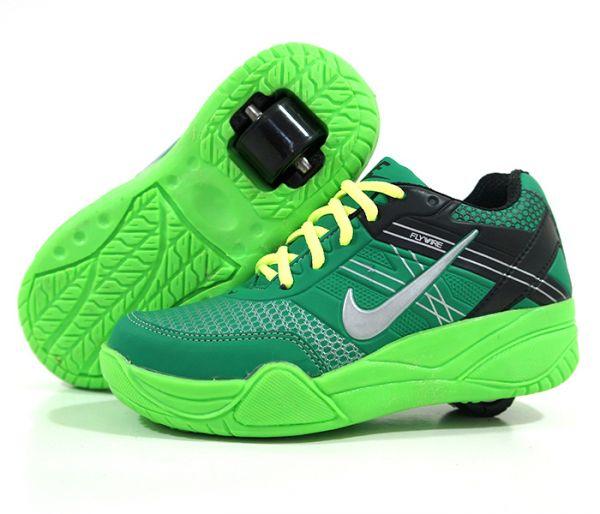 99dca2c2898 Tênis Infantil de Rodinhas Nike Verde - Wa ModaSport - tenis Nike ...