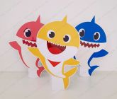 3 Displays de mesa - Baby Shark