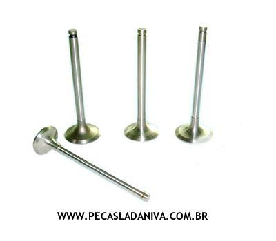 Jogo de Valvulas de Escape do Cabeçote c/ 4 Peças 1.6 Laika (Novo)- Ref. 0188
