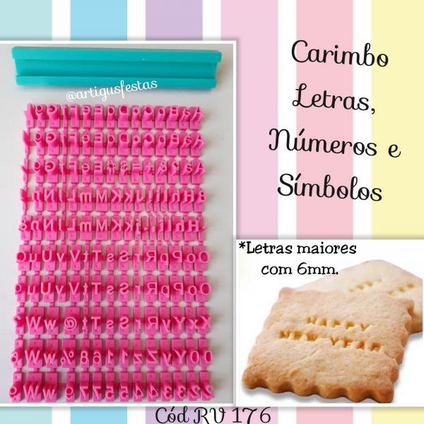 Carimbo Letras, Números e Símbolos