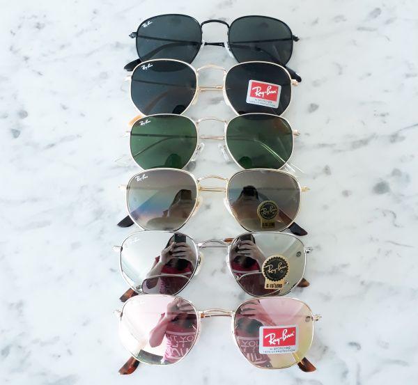 9ad4dc0fe23ff Óculos de sol Ray ban Hexagonal Inspired - Daf Store