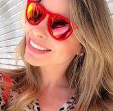 Óculos Style Ray Ban  rb4171 Erika Veludo - Vermelho com lente espelhada 2cd465c339