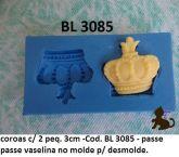 Coroas c/02 - 3cm Cod. BL3085