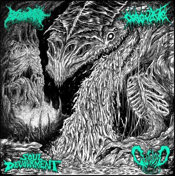 Blood Spore / Coagulate / Soul Devourment / Gutvoid – 4-Way - CD Split
