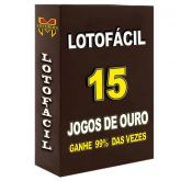 LOTOFÁCIL - 15 Jogos De Ouro,prêmios 99% dos concursos.