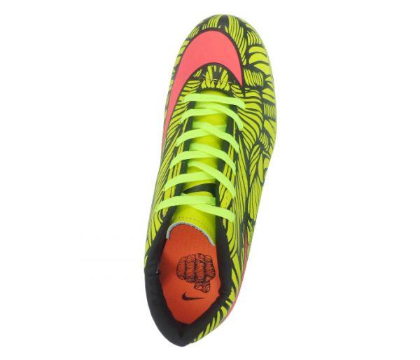 186868fb51 Chuteira Society Nike Hypervenom Phelon 2 Neymar Jr Amarelo Limão e Rosa