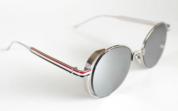 Óculos de sol feminino Round Redondo Retrô Thom Browne Inspired ... 3c3fd330e8