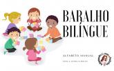 Baralho Bilingue com Letra Cursiva  Maiúscula e Minúscula