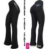 calça preta bolsos atrás (P-M-G),cintura alta, tecido jacquard piquet colmeia e cirrê