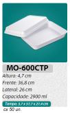 MO-600-CTP BANDEJA GRANDE S/ DIVISÓRIAS C/ TAMPA 2.900 ML C/ 100 UN.