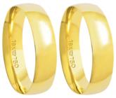 500R - alianças de ouro 18k, anatômica - Marca cpl