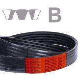 CORREIA POWER BAND GATES B65 - COM CANAIS - BORRACHA