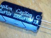 ELETROLÍTICO 3300X16 3300uFX16V 105º 12,5X25mm CAPXON