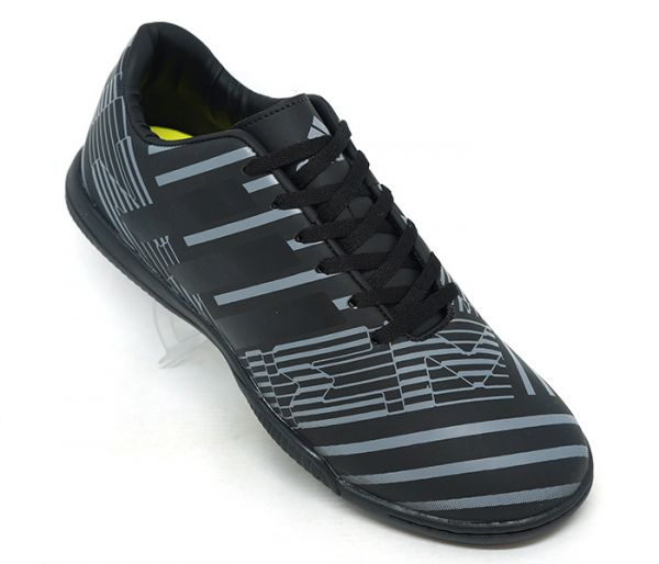 3c171a227e Chuteira Adidas Nemeziz 17.4 Futsal Preto e Cinza - AGP Roupas e ...