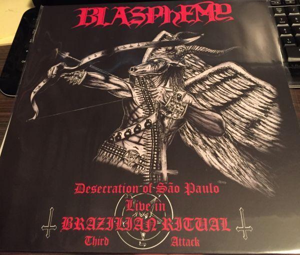 BLASPHEMY - Desecration of Sao Paulo - Live in Brazilian Ritual Third Attack - Black lp