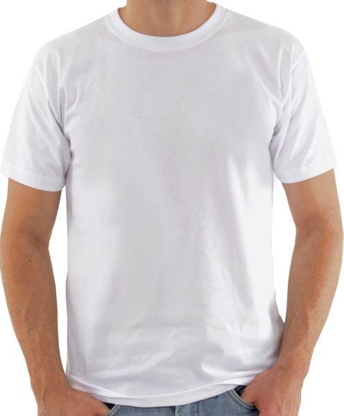 Camisa de malha branca sublimatica