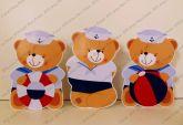 Kit com 3 displays - Urso Marinheiro 02