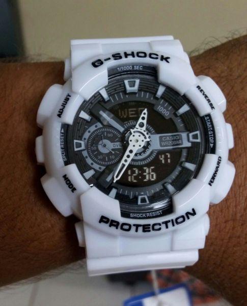 26ea8b4fd24 Relógio Masculino G shock Replica Branco Fundo Preto - DO GRINGO