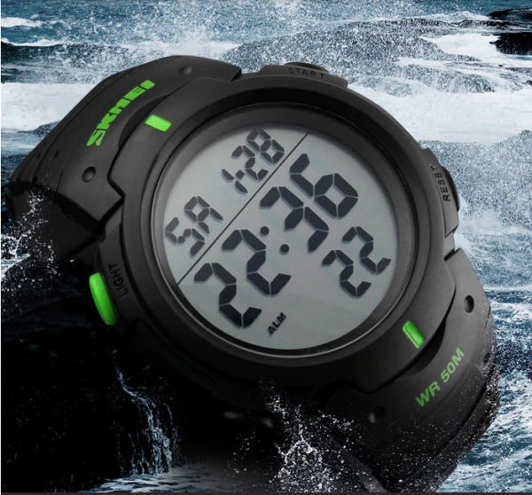 Relógio Skmei Led Digital A Prova D'água Alarme Cronômetro e Data