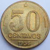 50 Centavos 1956 Brasão SOB/FC