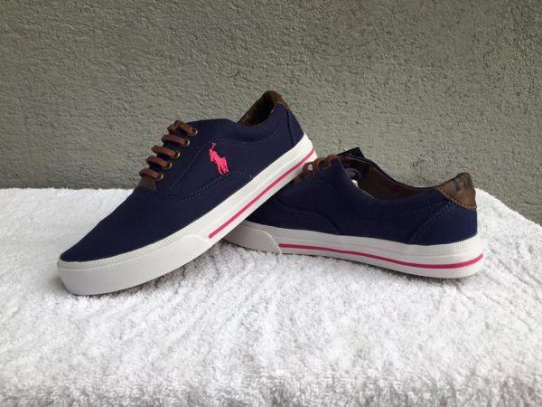 77665c81c8 Tênis Polo Ralph Lauren Azul c/ Rosa - Outlet Ser Chic