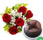 Flores com Torta
